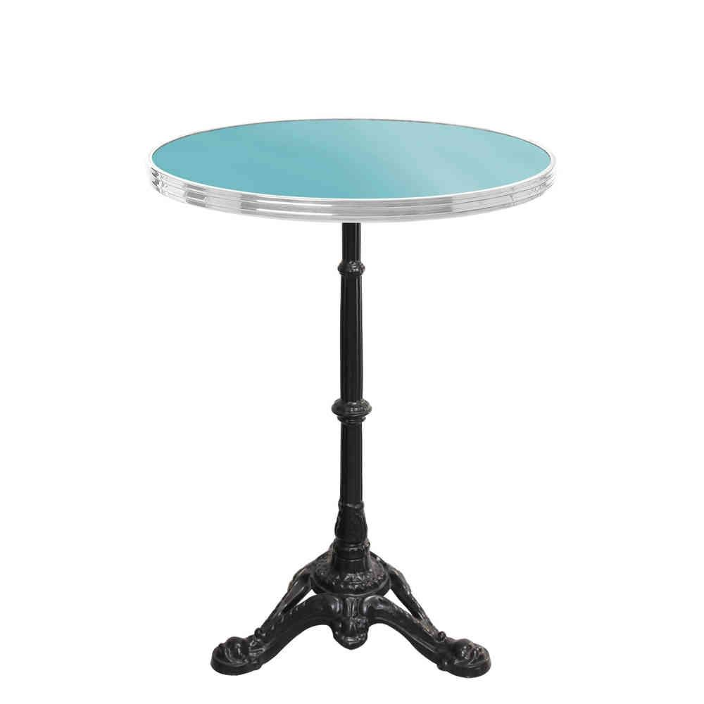 Table De Bistrot Ronde Emaillee Bleu Turquoise Gueridon Emaille Furniture Decor Home Decor