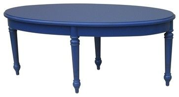 New Trade Winds Coffee Table Blue Painted traditional-coffee-tables