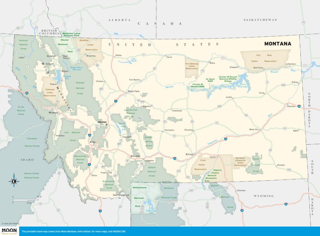 Montana | Montana | Montana, Map, Printable maps