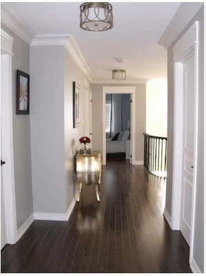 Dark Floors Soft Grey Wall Colour And White Trim Entry Hall Was Last Modified March 2013