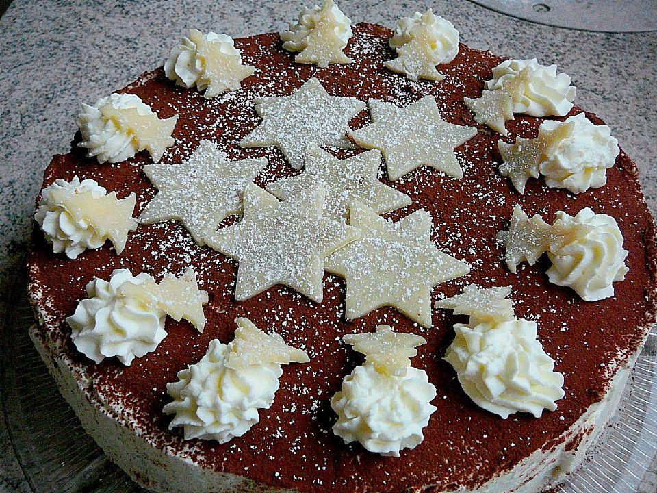 Weihnachtliche Kirsch - Mascarpone - Torte | weihnachten ...