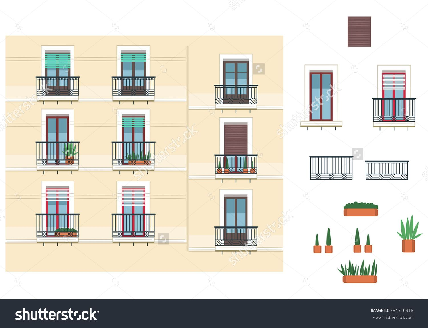 Different types of balconies outdoor street town france for Types of balcony