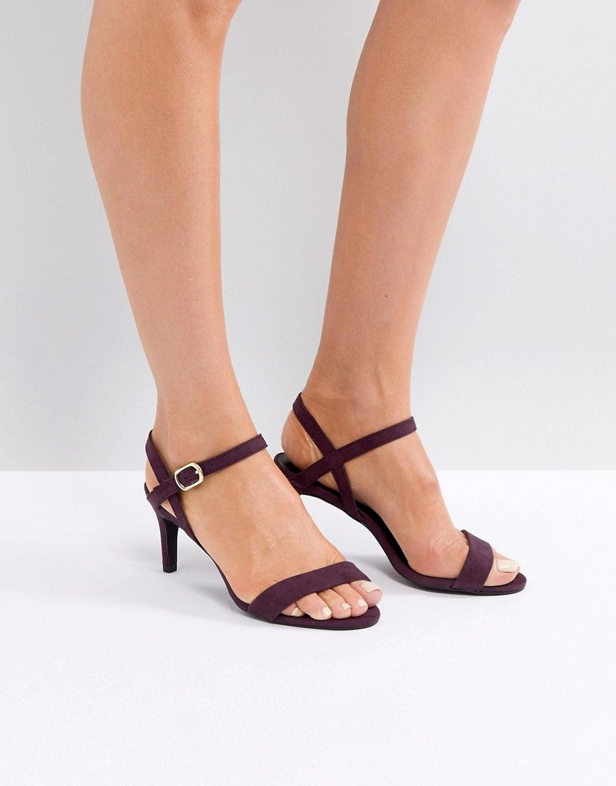 d9706c542df NEW LOOK SHIMMER 2-PART LOW HEEL SANDAL - PURPLE. #newlook #shoes ...