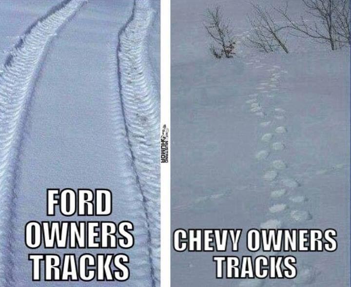 Ford Vs Chevy Chevy Jokes Truck Memes Ford Jokes