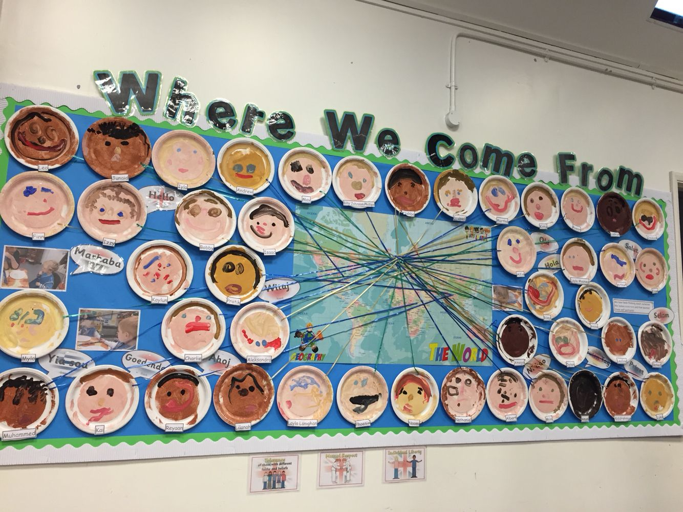 Where We Come From Display Eyfs Multicultural Diversity
