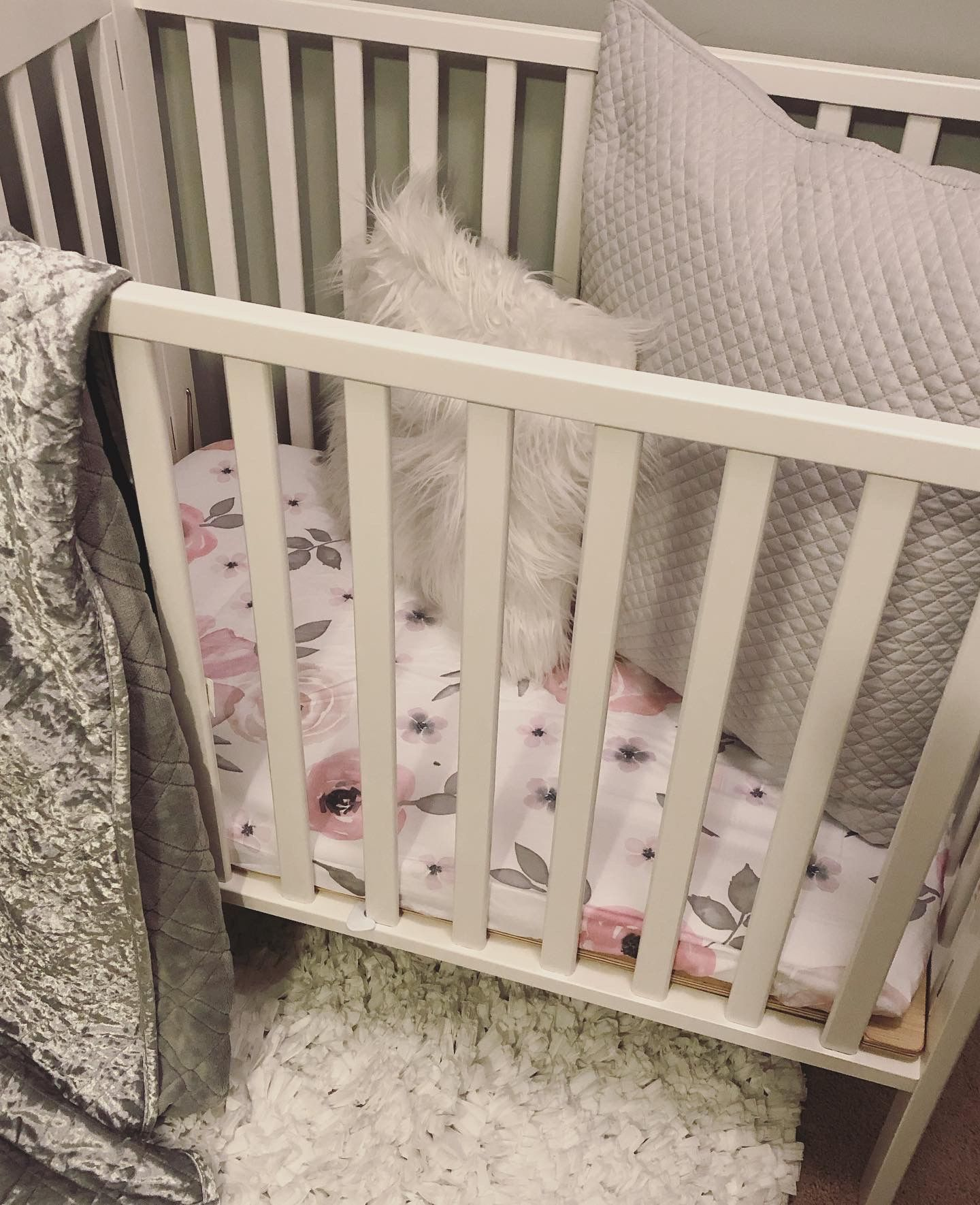 mini crib toddler bed on pop up nursery in closet girl mini crib peony theme mini crib nursery toddler bed pinterest