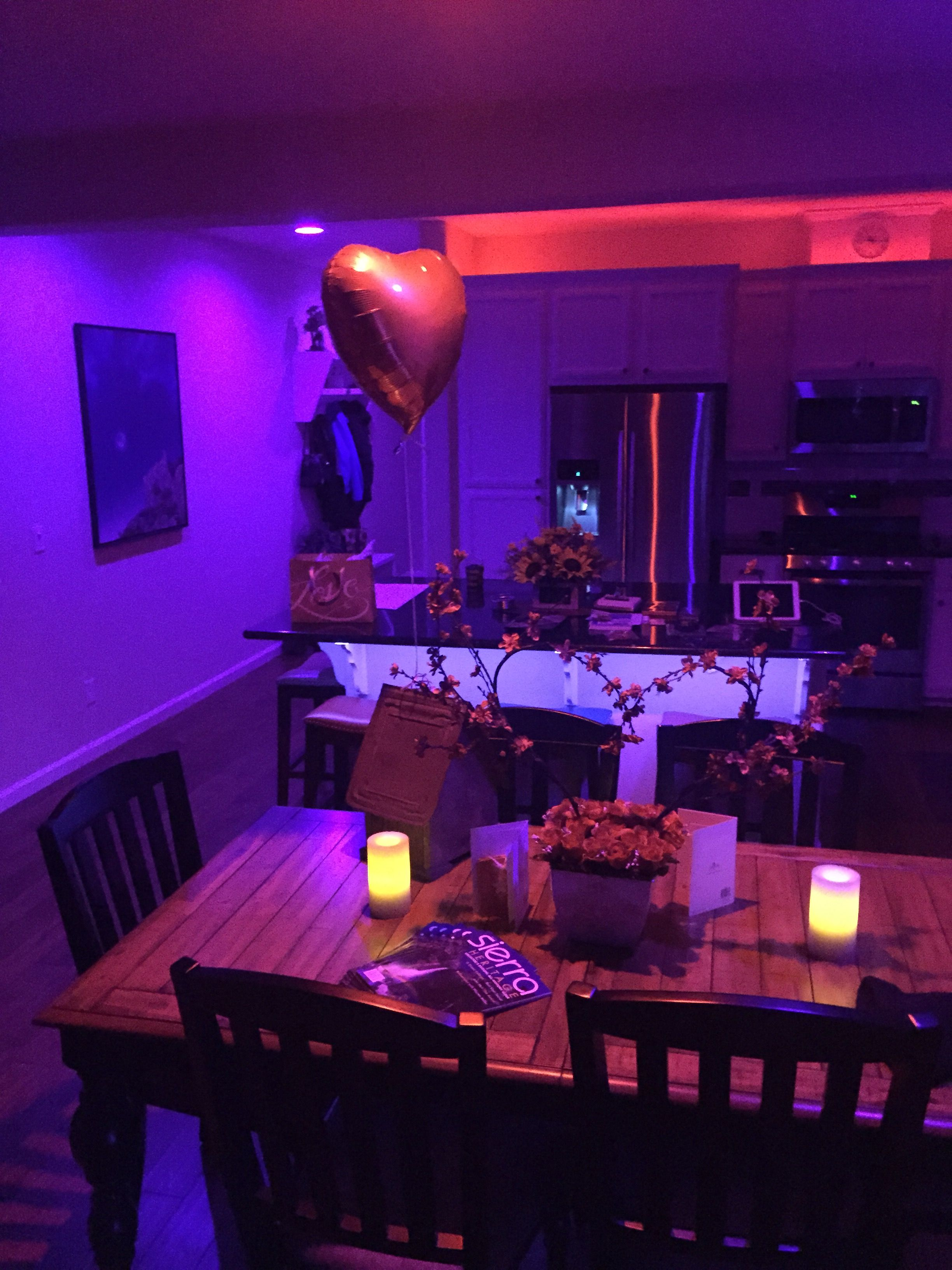 Our House On Valentine S Night Philips Hue Lighting