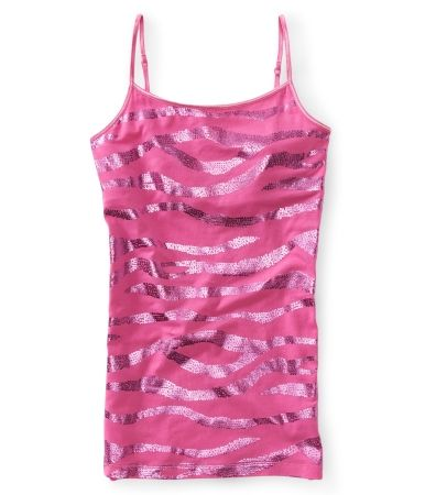 def6a3a999104 Zebra Shine Basic Cami from aeropostale Tank Top Shirt