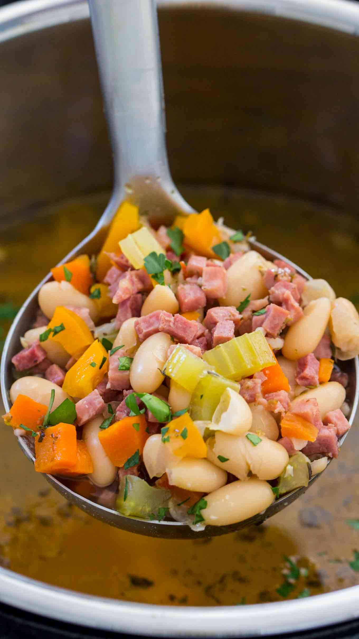 Instant Pot Ham And Bean Soup Recipe With Images Ham And Bean Soup Instant Pot Recipes