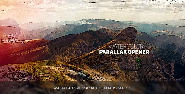 Watercolor Parallax Opener  • After Effects Template • See it in action ➝…