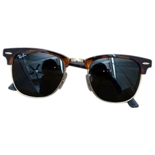6ade3d3ba77d5 Pre-owned Ray-ban  clubmaster  49mm Sunglasses (385 BRL) ❤ liked on ...
