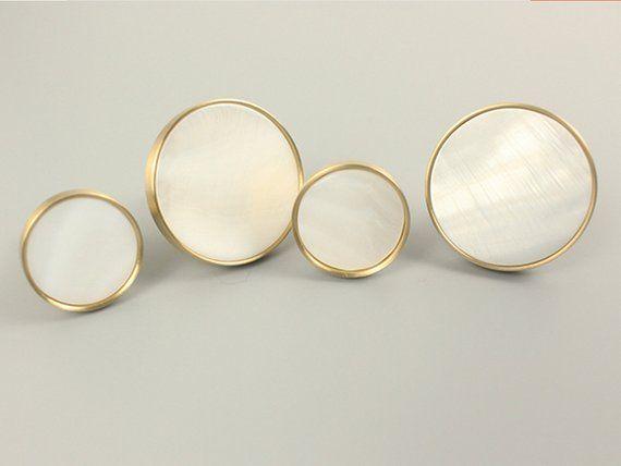Gold Cabinet Pulls Knobs Brass Cream Dresser Knob Pull Handle Shell Drawer  Knobs Handles Pulls Kitch