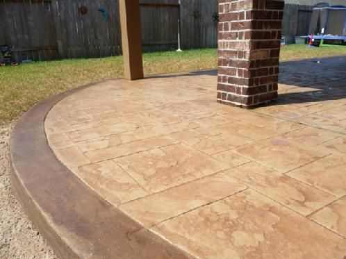 Stamped Concrete Patio This Is The Perfect Colour For Us