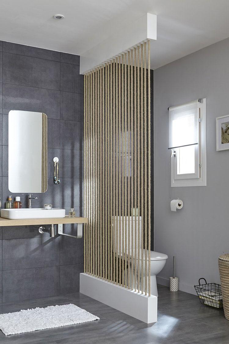 S parer les toilettes du lavabo id e salle de bain - Cloison pour separer une chambre ...