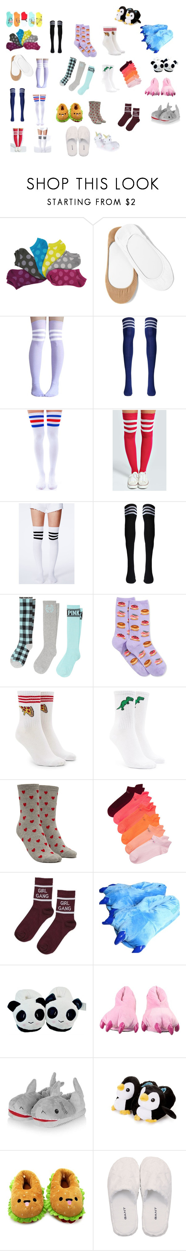 """""""Packing-Hanna"""" by hannalove1234 ❤ liked on Polyvore featuring Hot Topic, Hue, Leg Avenue, Boohoo, Missguided, HOT SOX, Forever 21, Victoria's Secret, Topshop and GANT"""