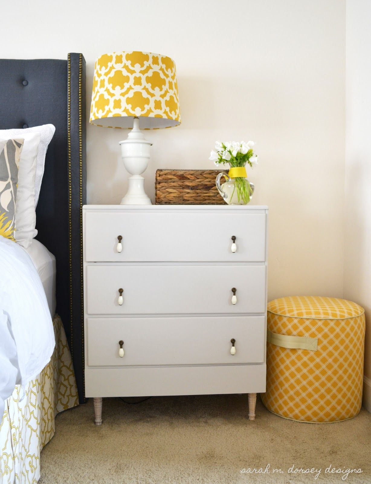 super pretty dresser re-design. would love a night stand like this one. maybe an ikea hack. via sarah m. dorsey designs