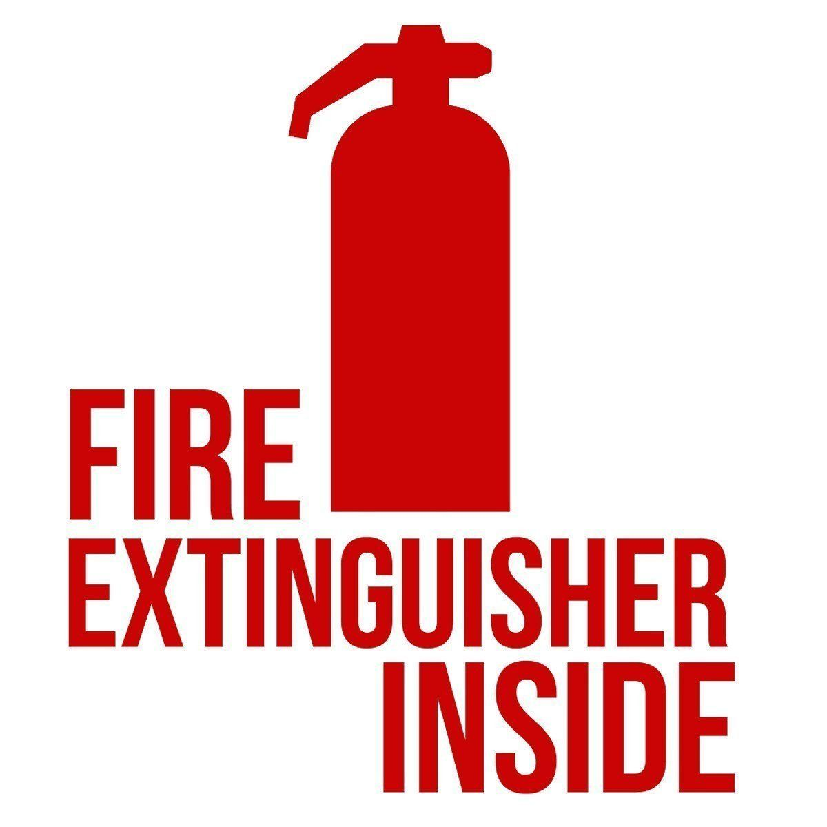 Fire Extinguisher Decal Sticker Give Your Vehicle A Modern Touch With This Fire Extinguisher Inside Decal Measures Approxi Fire Extinguisher Extinguisher Fire