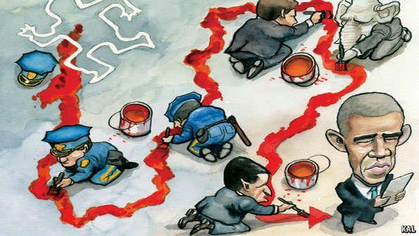 The cross blue line | The Economist