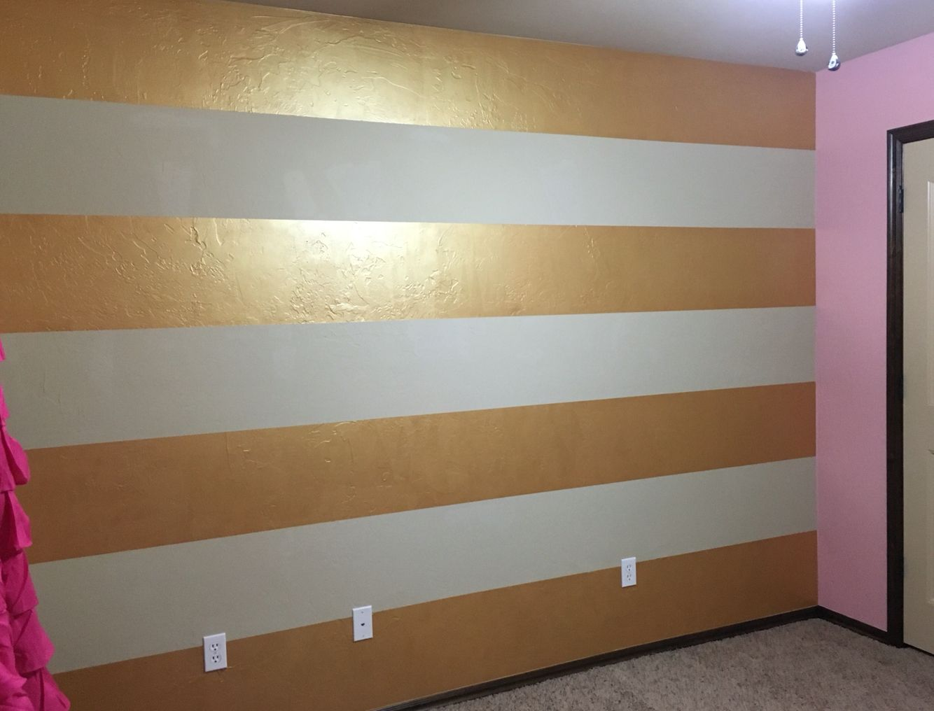 Sherwin Williams Metallic Impressions Gold Glaze Bedroom Wall