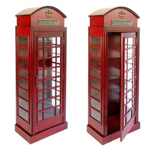 Strange London British Phone Booth Cabinet Glass Shelves New Free Download Free Architecture Designs Scobabritishbridgeorg