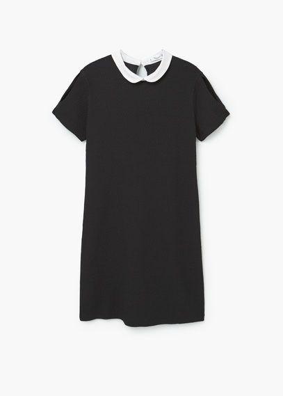 robe col claudine mode noir pinterest vestidos. Black Bedroom Furniture Sets. Home Design Ideas