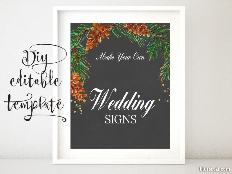 8x10 diy printable sign template for word make your own