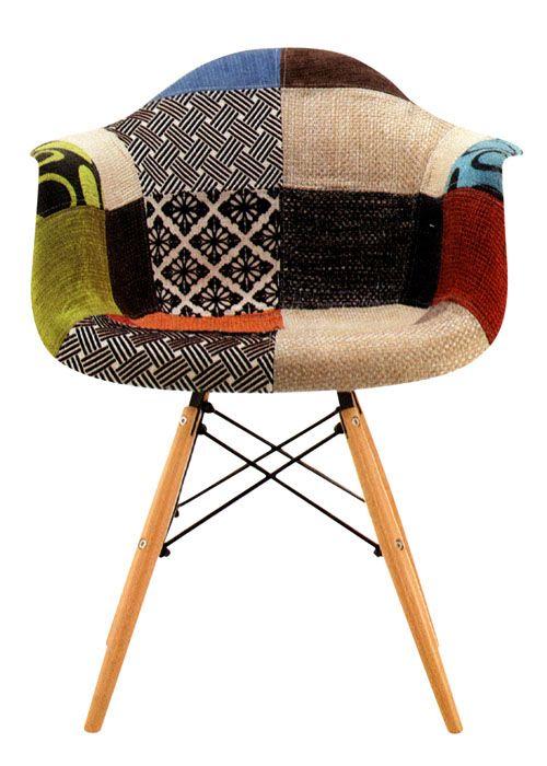 sillon eames patchwork el clsico silln eames tapizado en patchwork la vuelta de diseo - Sillon Eames