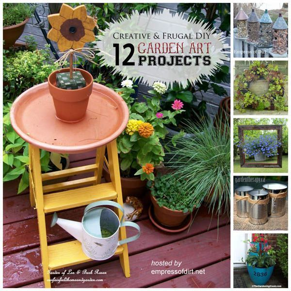 12 Creative and Frugal DIY Garden Projects Under $20 #diygartenprojekte