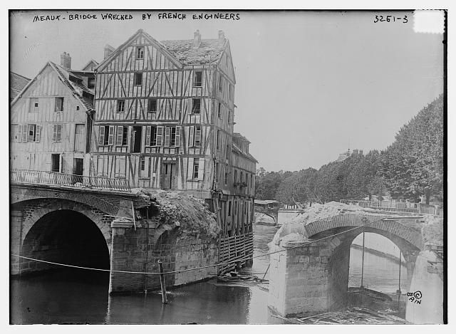 Meaux - Bridge wrecked by French Engineers