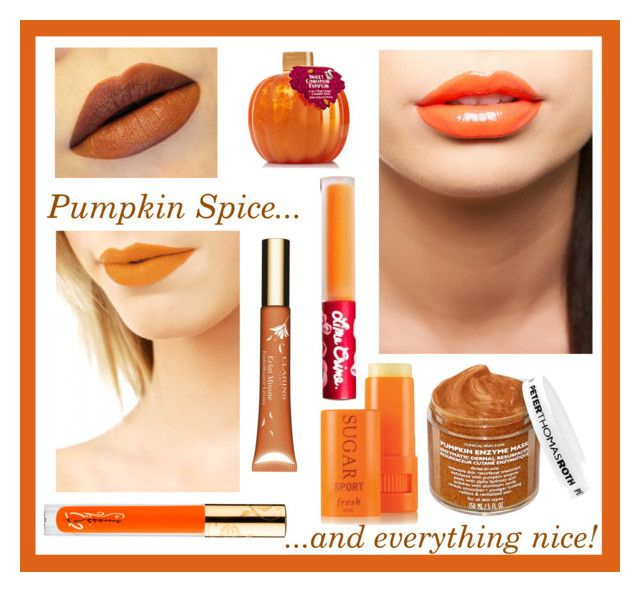 """Pumpkin Spice - Orange Lips"" by shortandsweet3 ❤ liked on Polyvore featuring beauty, Bésame, Fresh, Nero Cosmetics, Lime Crime, Peter Thomas Roth and Clarins"