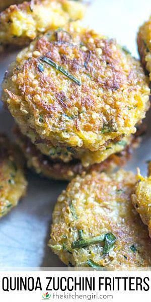 Zucchini fritters recipe made with quinoa carrots panko eggs and seasoning Glutenfree friendly