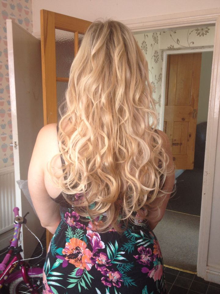 Balmain hair extensions before and after filled in the thin gaps gorgeous 18 inch wavy cinderella hair extensions by mango hair leeds pmusecretfo Choice Image