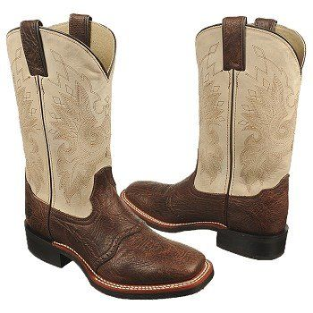 Women's Double H Work Western Roper Tobacco/Ivory Shoes.com | Just ...