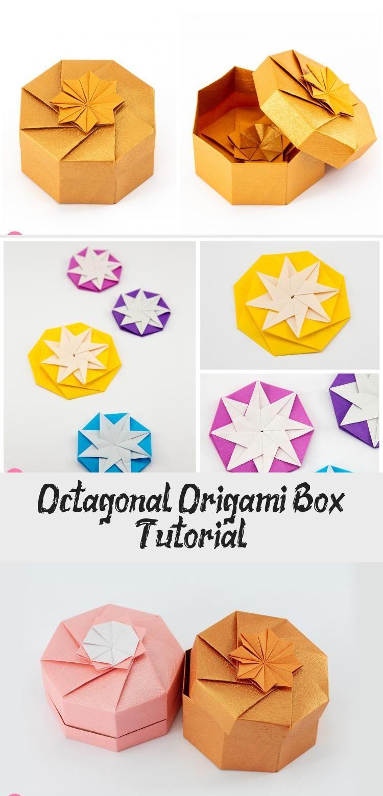 Photo of In diesem Tutorial lernen Sie, wie Sie eine 8-seitige achteckige Origami-Geschenkbox herstellen. …