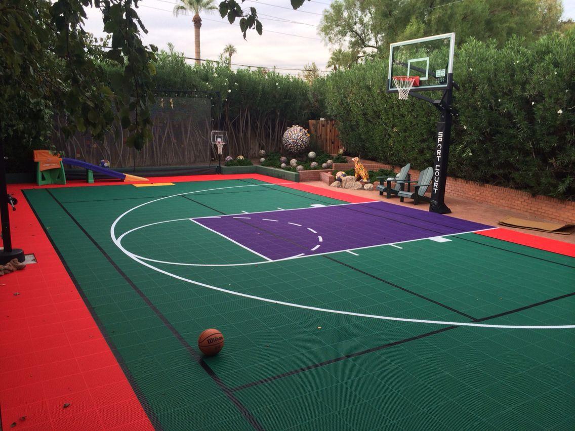 colorful backyard sport court pinterest backyard sports