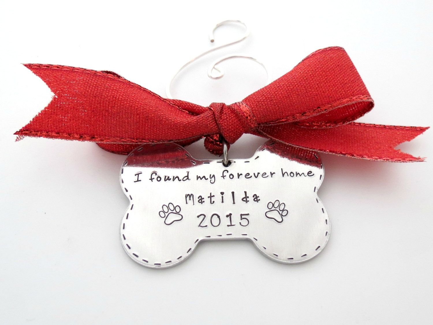 Dogs First Christmas Ornament.Personalized Dog Bone Ornament Dogs First Christmas Family