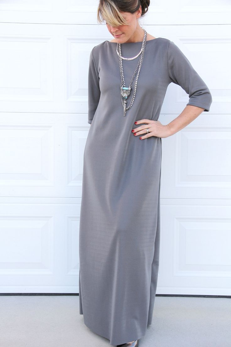 Easy maxi dress diy