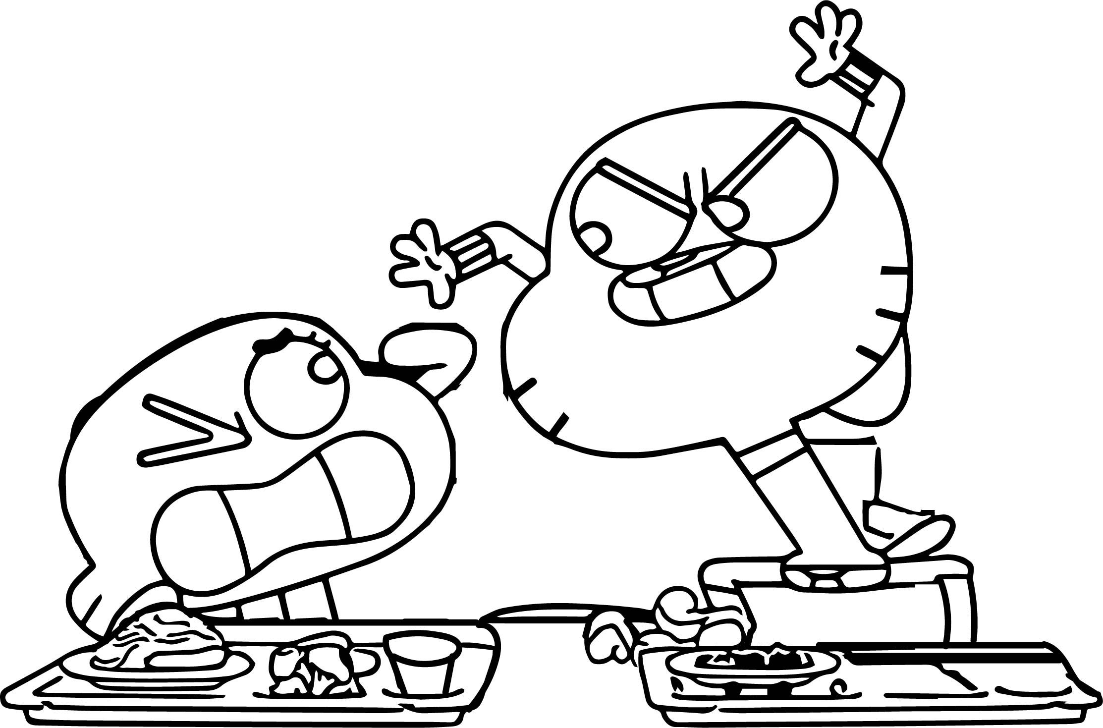 Nice Gumball And Darwin Noo Coloring Page Coloring Pages Cartoon Coloring Pages Free Coloring Pages