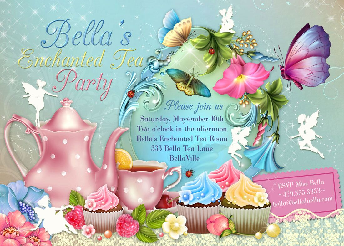 Fairy Tea Party Invitation, Birthday Tea Party, Tea Party, Garden ...