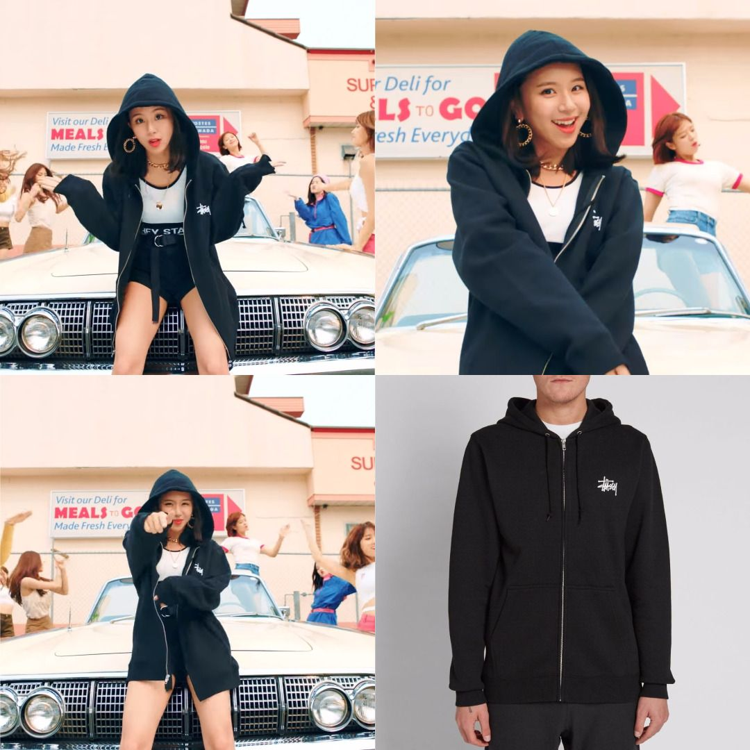 Mvfashion Idol Chaeyoung Pick Stussy Ziphoodie 129 Twice Twicelikey Likey Kpop Koreanidol Stussy Fashion Twice Clothing Stussy Hoodie