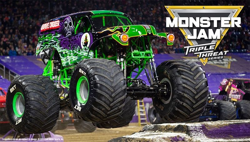Monster Jam Stadium Cartoon 222 61 X 91 5cms Poster Free