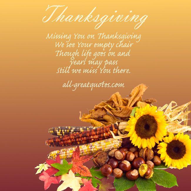 Missing You This Thanksgiving Chris Pinterest Thanksgiving