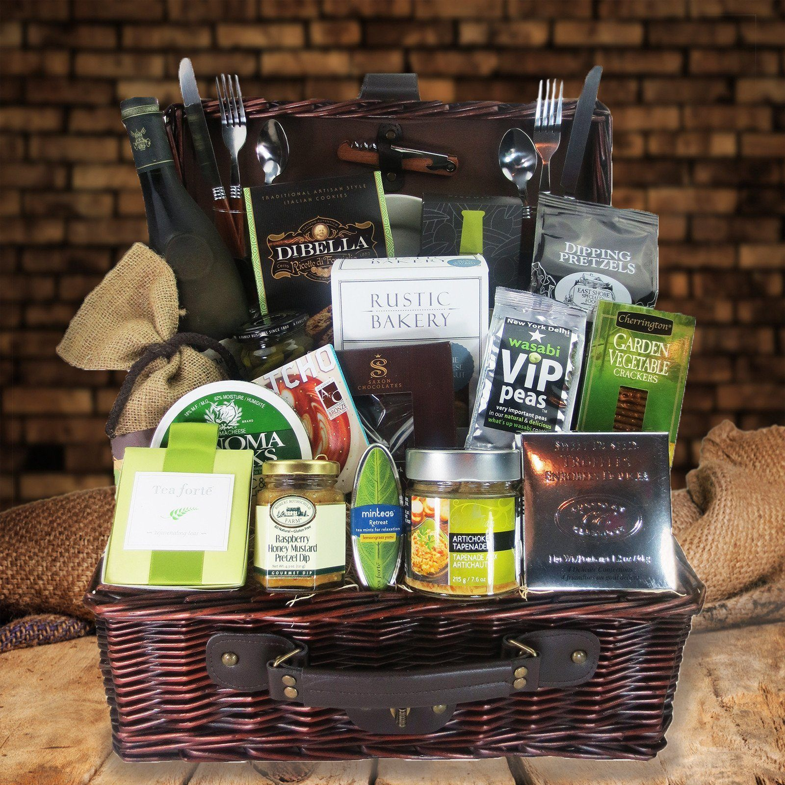 red wine and cheese gift baskets