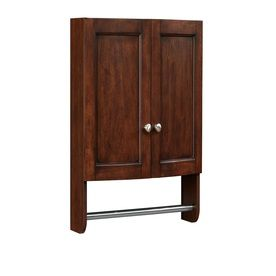 Photos Of allen roth Moravia W x H x D Sable Poplar Bathroom Wall Cabinet