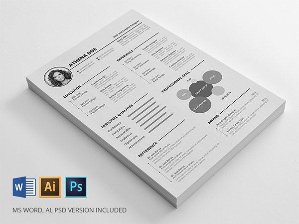 20 Free Editable Cv Resume Templates For Ps Ai Free Printable