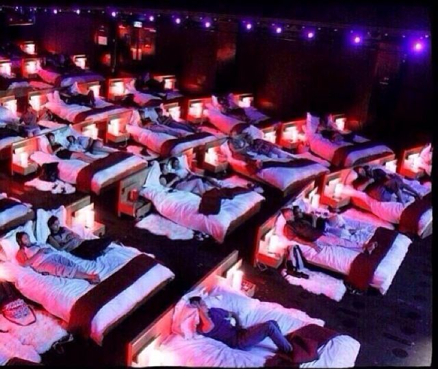 Cinema Beds In Athens Greece Bed Cinema Movie Theater Cinema
