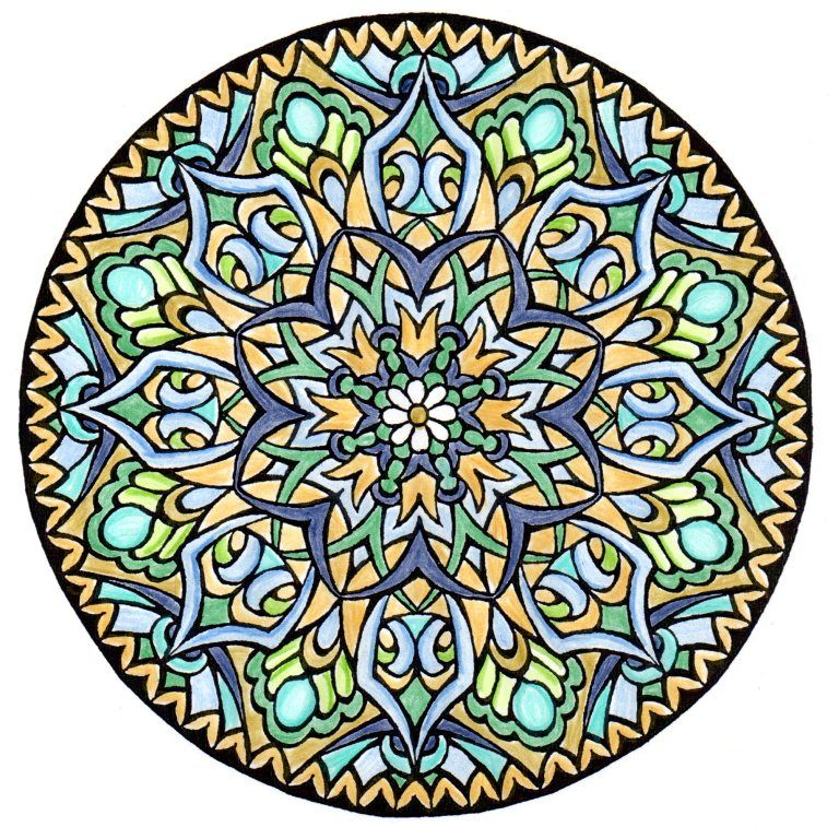 Mystical Mandala Coloring Book Dover Design Books By Alberta Hutchinson