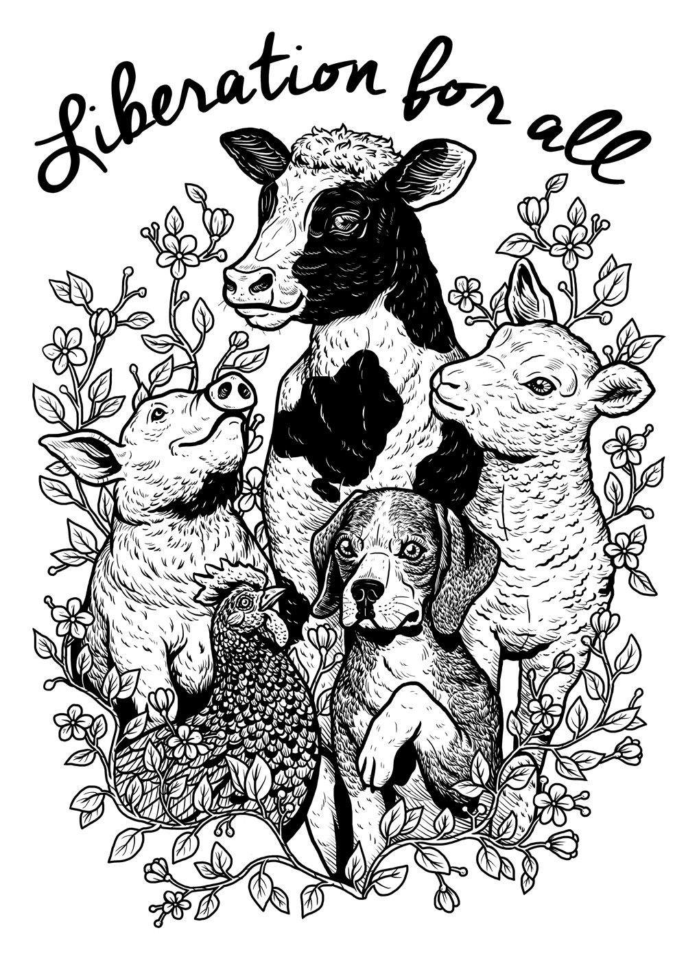 Liberation for all on Behance | Animal activism, Dog illustration art,  Animals