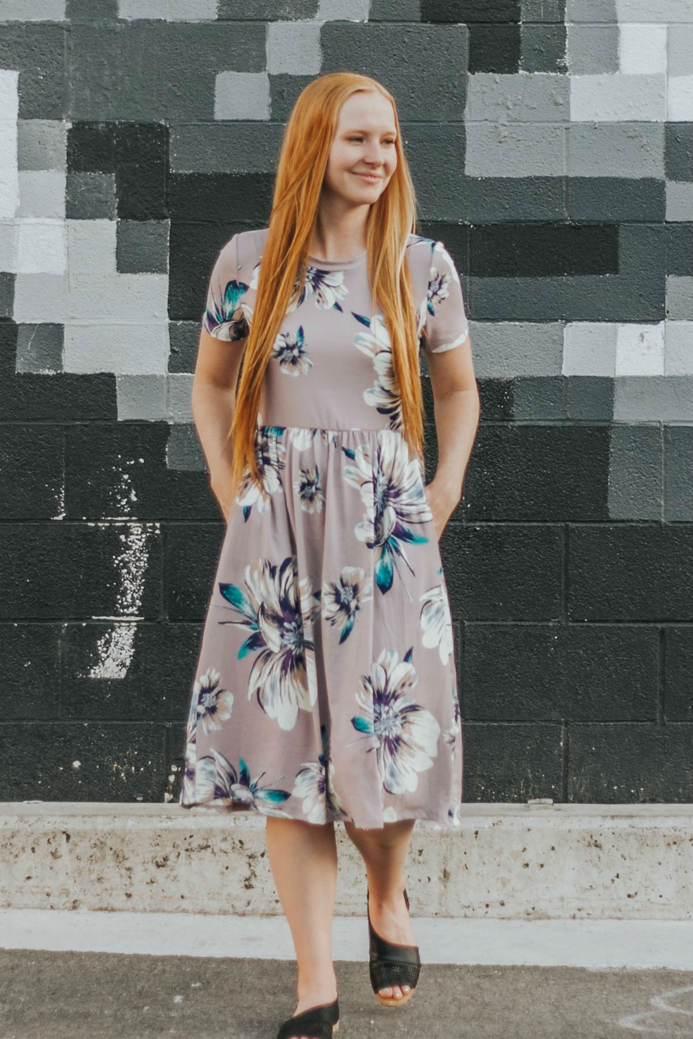 72f282ec4cc Floral dresses will never let you down!  floral  dresses  modestclothing   lilac  cleomadison