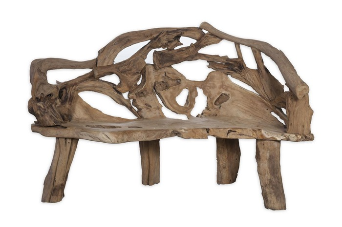 Dijk natural collections Plateau d/écoratif en bois Gris /Ø 29 cm
